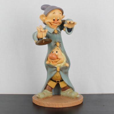Dopey and Sneezy big garden statue by Walt Disney