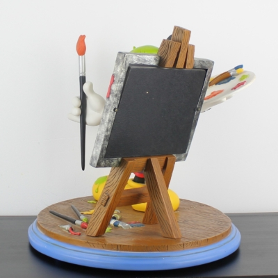 Mickey Mouse as painter statue picture frame by Walt Disney