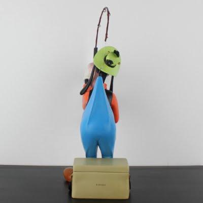Vintage Goofy fishing big Polyresin statue by Walt Disney