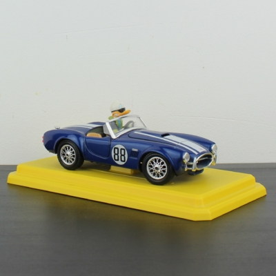 Donald Duck in his Shelby Cobra 427 model car by Bburago in license of Walt Disney