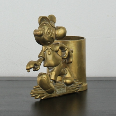 Vintage Mickey Mouse pen tray by GATCO