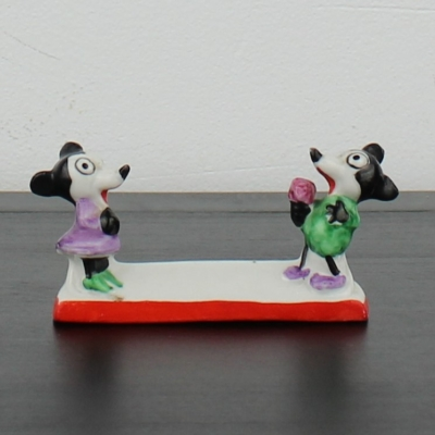 Antique Mickey and Minnie Mouse cutlery tray