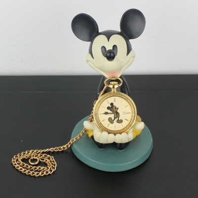 Mickey Mouse statue with watch by Walt Disney